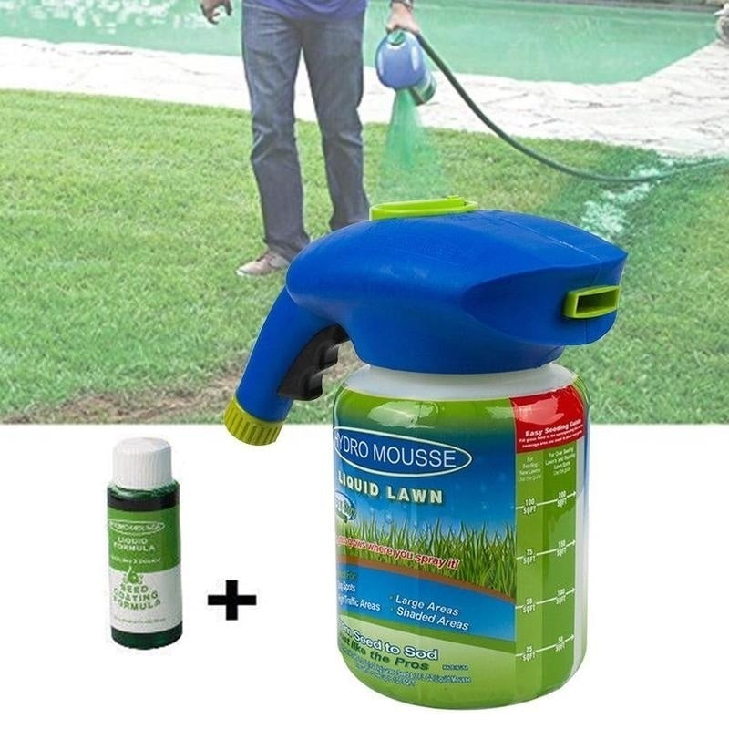Household Potted Plastic Watering Can, Garden Seed Sprayer Combination Household Seeding System Liquid Spray Seed Lawn Care Grass Shot