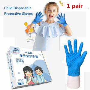 Wear-Resistant Multifunctional for Boys Girls Thickened Anti-Static Anti-pollution Nitrile Gloves Latex Glove Disposable Gloves Labor Supplies