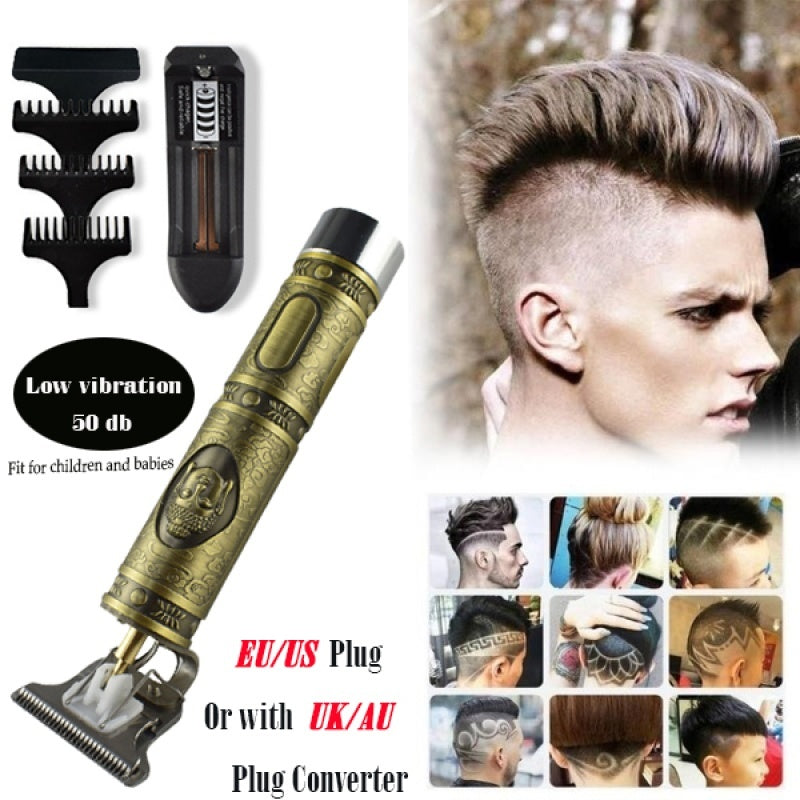 2020 Updated Close-cutting Digital Hair Trimmer Rechargeable Electric Hair Clipper Barbershop Cordless T-blade Baldheaded Outliner