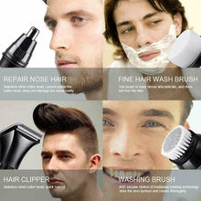 Load image into Gallery viewer, 5 IN 1 4D Rotary Electric Shaver Rechargeable Bald Head Shaver Beard Trimmer