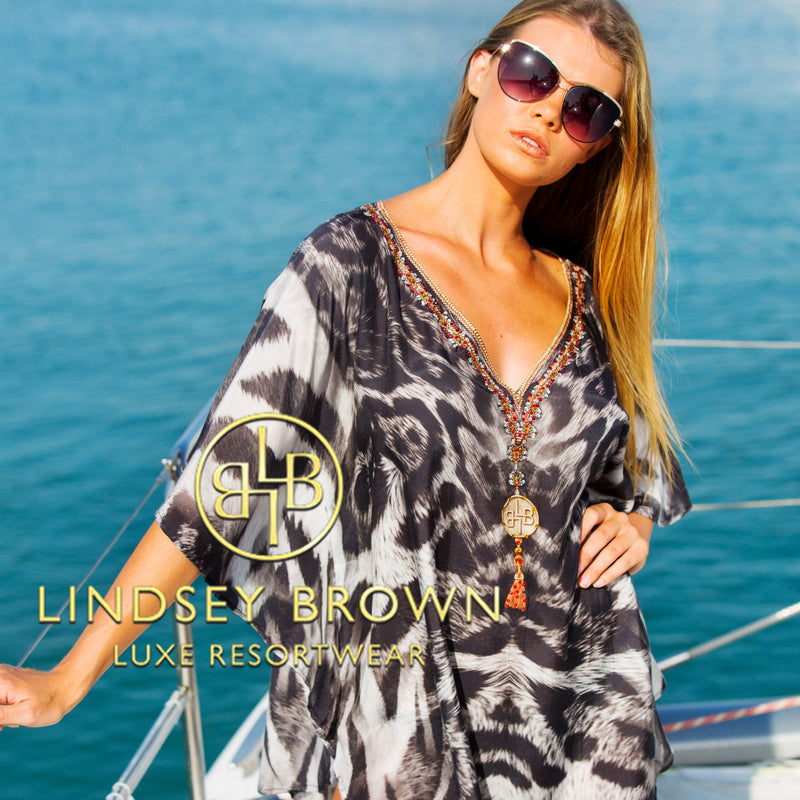 Animal Print Designer Beach Cover Ups for the Caribbean