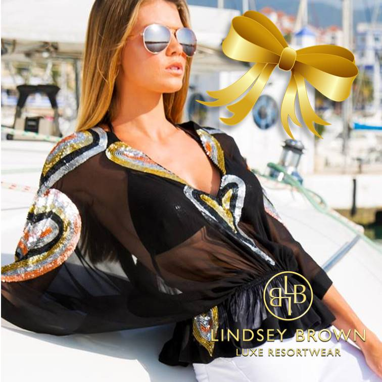 Stunning Black Silk Tops for a Caribbean Holiday