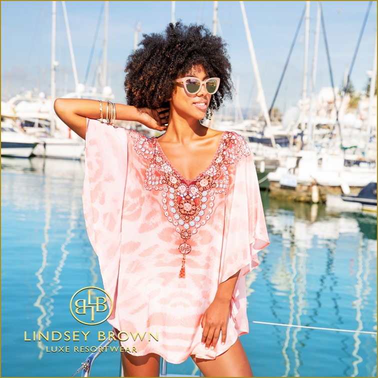 Shop  New Silk Crepe  designer kaftan top by Lindsey Brown