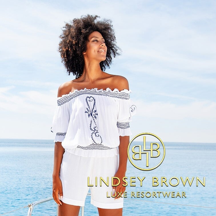 Shop Designer Bardot Tops by Lindsey Brown Resortwear