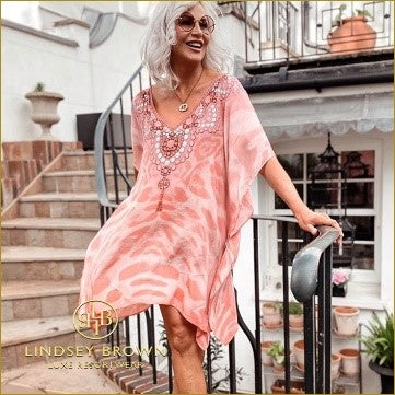 @KazzStyle_  Wears Blush Pink Printed Beach Cover-up