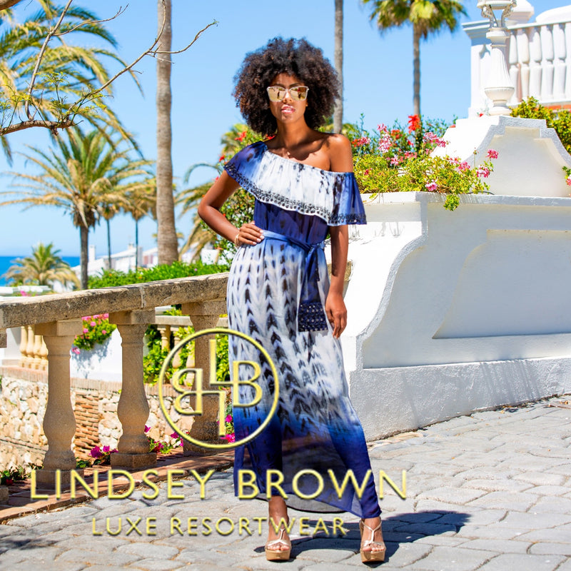 Shop Stunning Silk resortwear maxi Dresses by Lindsey Brown