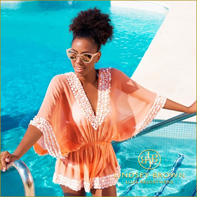 Designer Silk Beach Cover Ups by Lindsey Brown Resort Wear