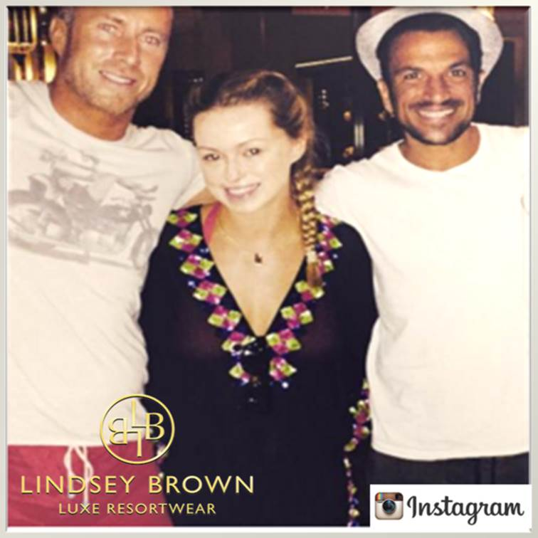 Ola Jordan wearing Lindsey Browns silk Manhattan top in Dubai