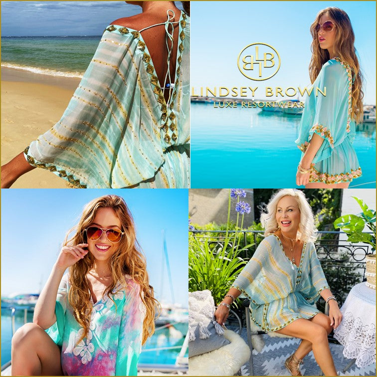 Designer Silk Kaftans by Lindsey Brown