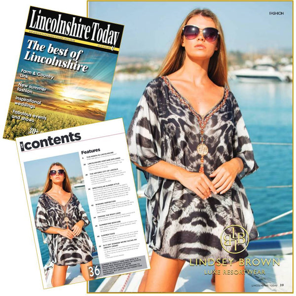 Animal Printed Swiss Cotton Coverup by LindseyBrown  in Lincolnshire Life Magazine