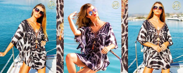 Shop Animal Printed Beachwear Cover-ups  by LindseyBrown