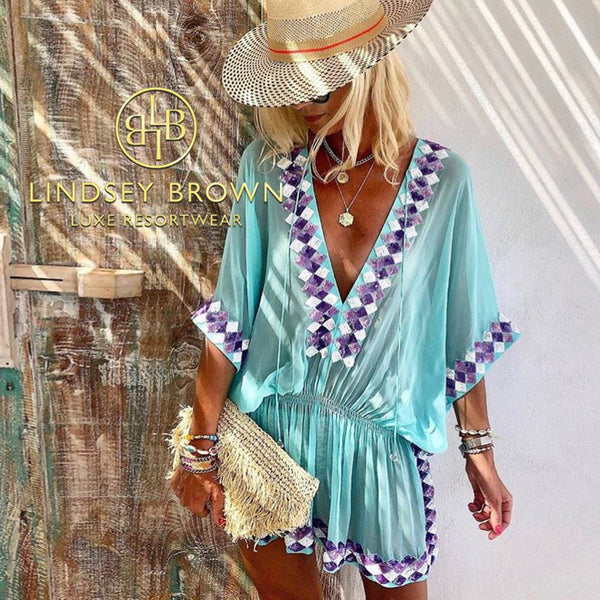 Shop Anna Mavridis fashion blogger wears  LindseyBrown resortwear manhattan Top .