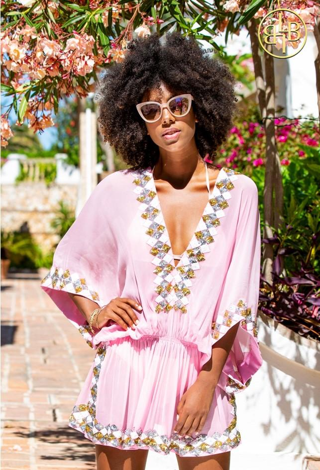 Manhattan Silk Beach Cover Up by Lindsey Brown Resort Wear