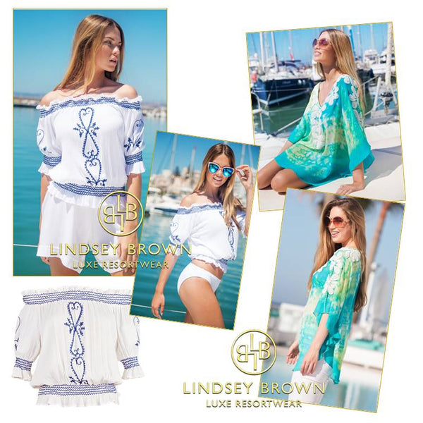 Best Designer Kaftan tops by LindseyBrown Resort wear