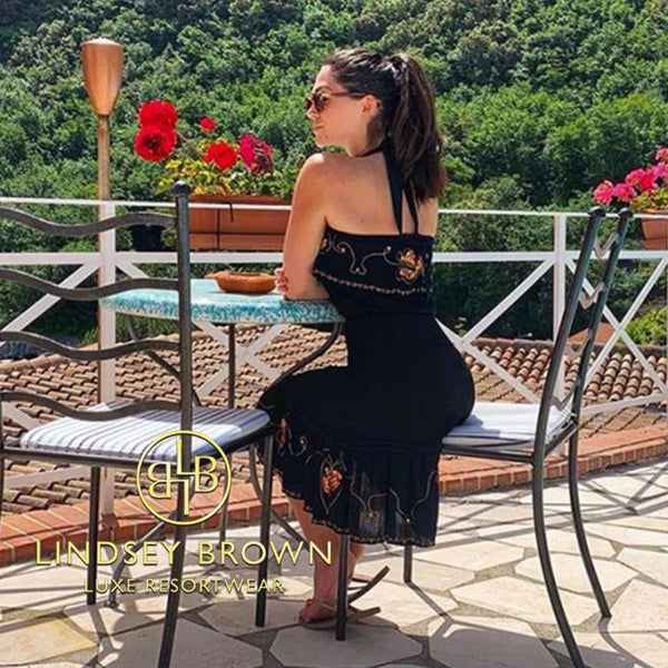 Shop Strapless Black Dress for holiday worn by Casey Batchelor