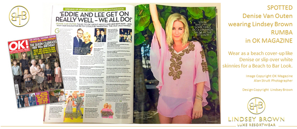 But the Pink Top worn by Denise Van Outen as seen in OK Magazine Souvenir Edition May 3rd 2016