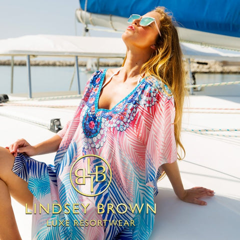 Shop Swiss Cotton Cover-ups to wear on a Cruise Holiday by Lindsey Brown Resortwear