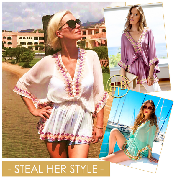 Wear all holiday from Beach to Bar on a Caribbean Cruise or for poolside glamour in any luxury resort location. Add skinny white jeans or tailored shorts for a versatile Designer Kaftan Top.