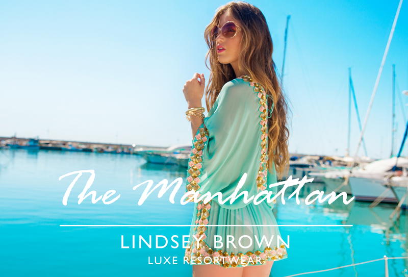 Silk Designer Resort wear Tops the Manhattan by Lindsey Brown