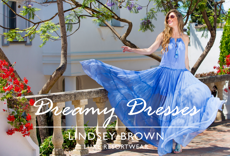 Shop Silk Resort wear Dresses Cotton Floaty Designer holiday Dresses by Lindsey Brown