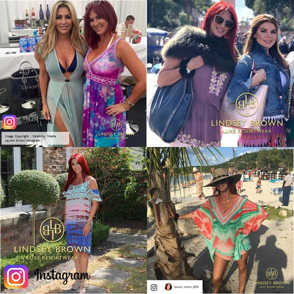 55b37822e3 Lauren Simon wearing Marbella Outfits by Lindsey Brown Designer Resortwear