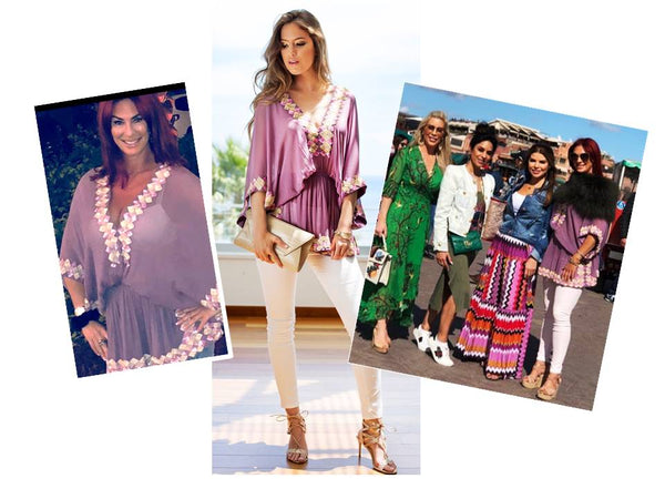 LaurenStone #RealHousewivesofCheshire wears Pink Silk Top in Marrakech