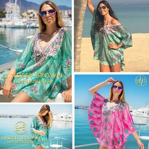 Melanie Sykes wears kaftan in Dubai as seen on Daily Mail online