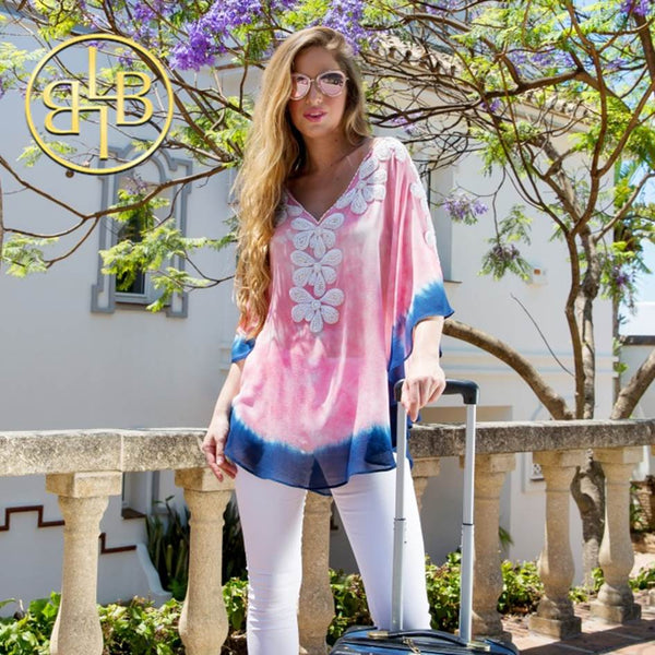 Stunning Rumba in Pink & Indigo now available in Plus Size by Lindsey Brown
