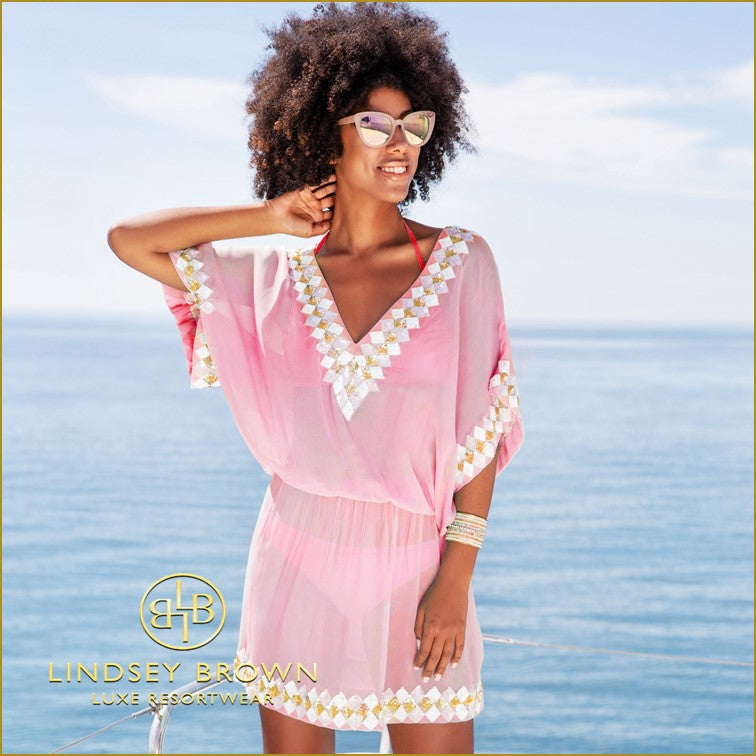 Silk Designer Kaftans to wear in Australia by Lindsey Brown  Sizes XS-7XL