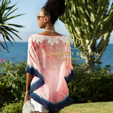 Rumba Designer Silk Kaftan Top by Lindsey Brown resortwear