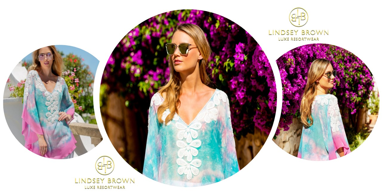 Silk Kaftan Tops hand tie dye by Lindsey Brown