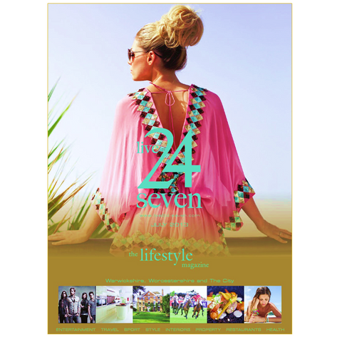 front cover 247 magazine feature the pink manhattan designer kaftan top