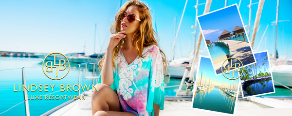 LindseyBrown Designer Resortwear. Shop flaoty kaftan tops, designer kaftans XS-5XL. Free Worldwide shipping