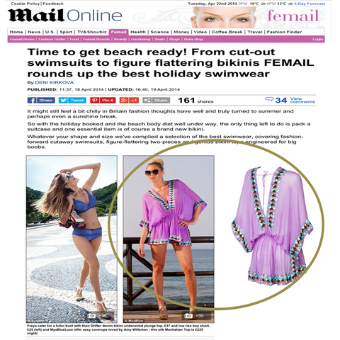 Lavender Silk Manhatatn Top in DailyMail Femail