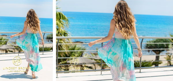 pretty dresses to wear on holiday in Greece. Shop light weight designer cover-ups and kaftan tops