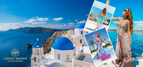 Taking a holiday in Crete, Rhodes or fashionable Mykonos and Santorini,  you will need a variety of light weight designer cover-ups and kaftan tops