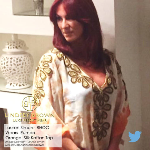 Shop Orange luxury silk kaftans UK. Shop kaftans worn by Lauren Simon on Real housewives of Cheshire. Shop Orange luxury silk kaftans UK.