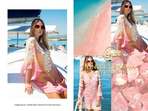 Pink Silk Kaftan seen in Sunday Times Travel what to wear in the Bahamas