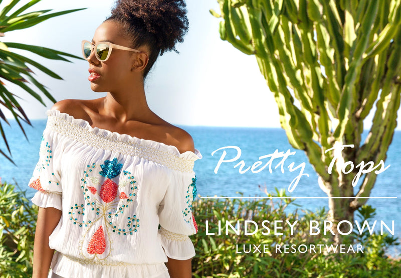 White Designer Off the shoulder tops and bardot tops to wear on holiday by Lindsey Brown