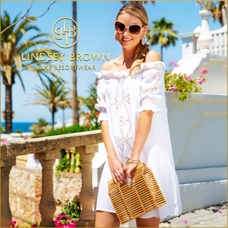White Dress for a Caribbean beach holiday by Lindsey Brown