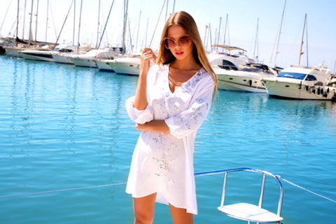 Stunning white kaftan in Dales Life Loves by LindseyBrown Resortwear
