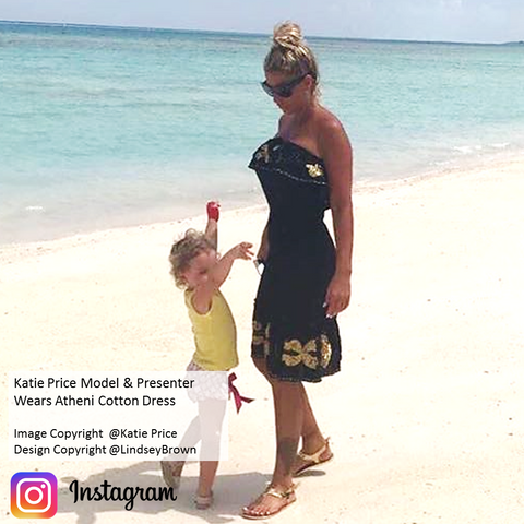 Shop Black Strapless SunDress as seen on #KatiePrice Instagram. Shop Katie Price Dresses UK