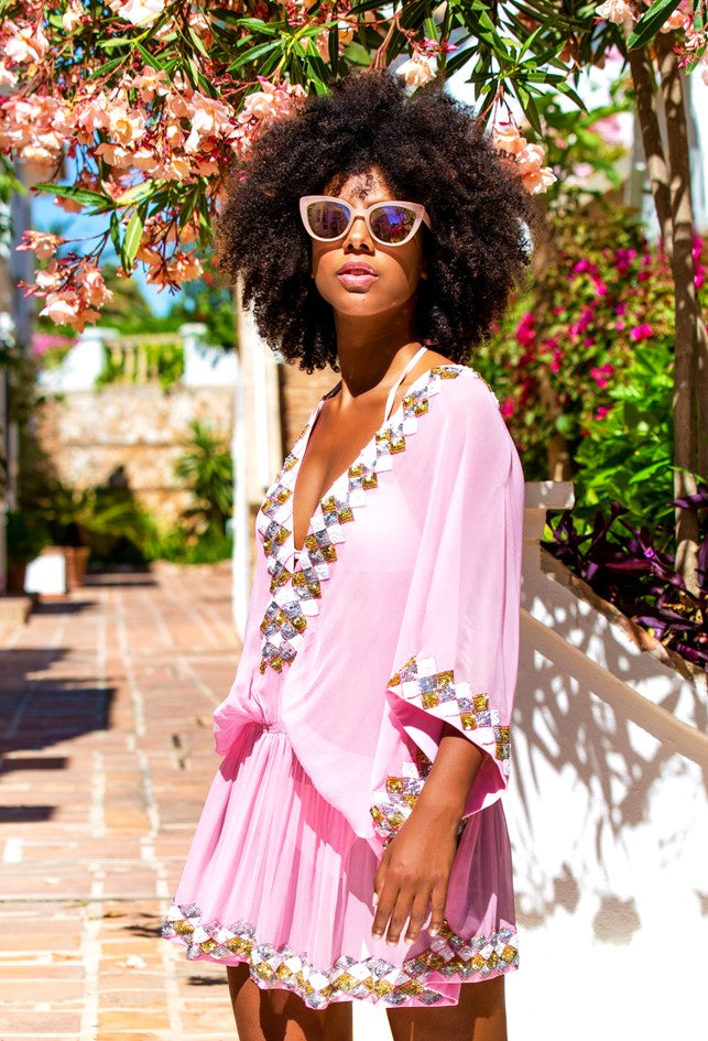 New Pink Designer Kaftans to wear In Dubai by Lindsey Brown resort wear