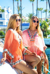 Pink Silk Designer Kaftans by Lindsey Brown Resort wear to wear int he Maldives