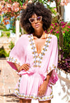 Pink Silk Designer Kaftans by Lindsey Brown resort wear