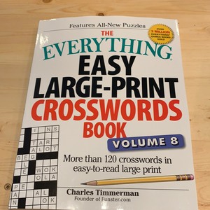 The Everything Easy Large Print Crosswords Book