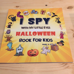 I spy with my little eyes Halloween book for kids