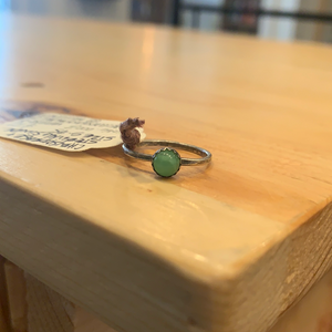 Gemstone Ring RING 0003 Chrysoprase and Sterling