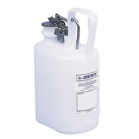 Polyethylene Self-Close Corrosive Waste Can 4ltr - 12161