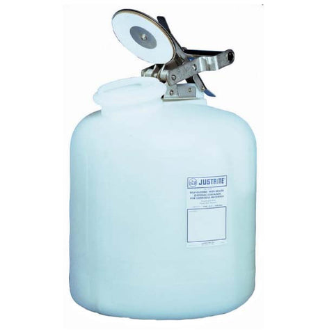 Polyethylene Self-Close Corrosive Waste Can 7.5ltr - 12762